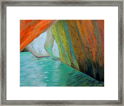 The Baths Framed Print by Linda Moore