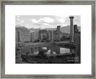 The Baths Framed Print by Sophie Vigneault