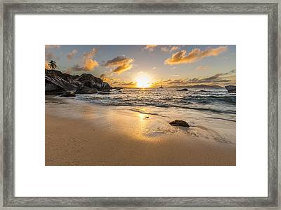 The Baths Sunset Framed Print by Bruno Kolovrat