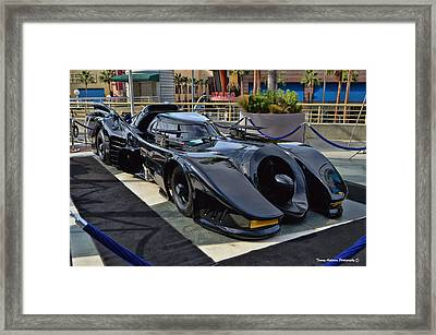 The Batmobile Framed Print by Tommy Anderson