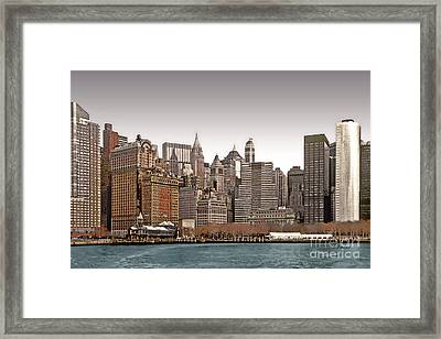 The Battery New York City Framed Print by Linda  Parker