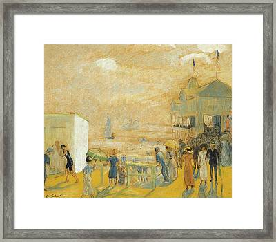 The Battery Framed Print by William James Glackens