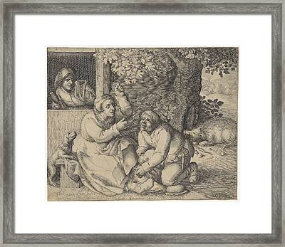 The Battle For Pants, Pieter Serwouters Framed Print by Pieter Serwouters