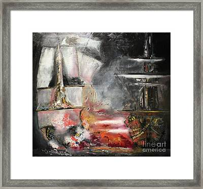 The Battle Framed Print by Michael Kulick
