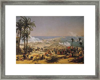The Battle Of Aboukir, 25th July 1799 Oil On Canvas Framed Print by Louis Lejeune