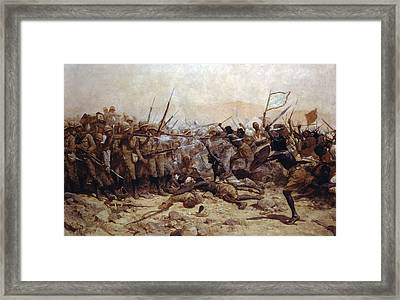 The Battle Of Abu Klea, 17th January Framed Print by William Barnes Wollen