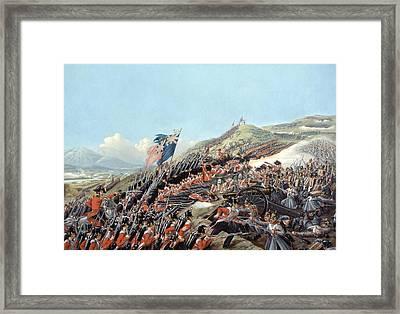 The Battle Of Alma On 20th September Framed Print by Edmund Walker