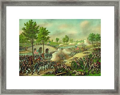 The Battle Of Antietam American Civil War Framed Print by Movie Poster Prints