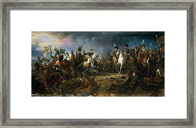 The Battle Of Austerlitz Framed Print by Baron Francois Gerard