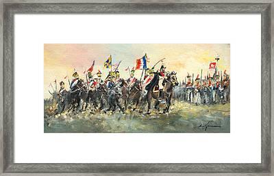 The Battle Of Austerlitz Framed Print