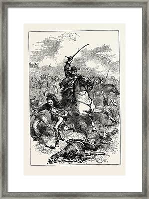 The Battle Of Buena Vista, Also Known As The Battle Framed Print