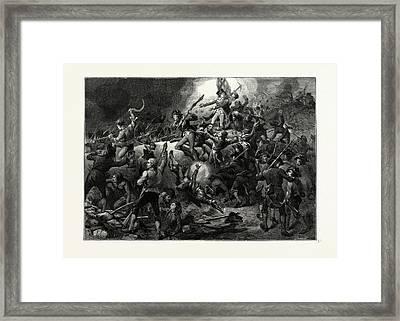 The Battle Of Bunker Hill, June 17 Framed Print by American School