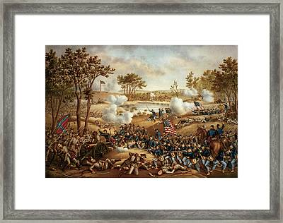 The Battle Of Cold Harbor Framed Print by Kurz and Allison