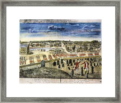 The Battle Of Concord, 1775 Framed Print
