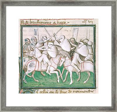The Battle Of Crecy Framed Print by British Library