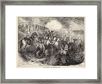 The Battle Of Ferozeshah, Illustration Framed Print