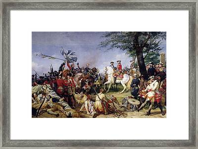 The Battle Of Fontenoy, 11th May 1745, 1828 Oil On Canvas Framed Print