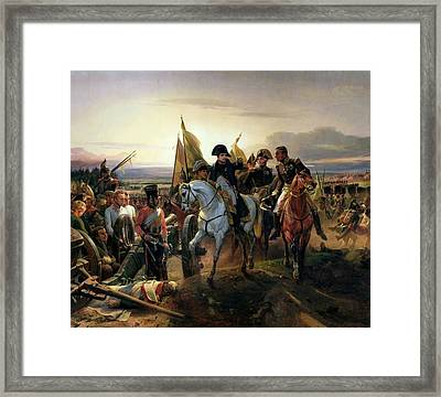 The Battle Of Friedland, 14th June 1807 Oil On Canvas Framed Print by Emile Jean Horace Vernet