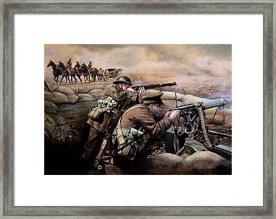 the battle of Fromelles Framed Print by Chris Collingwood