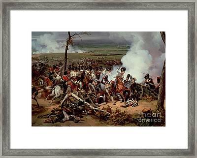 The Battle Of Hanau Framed Print