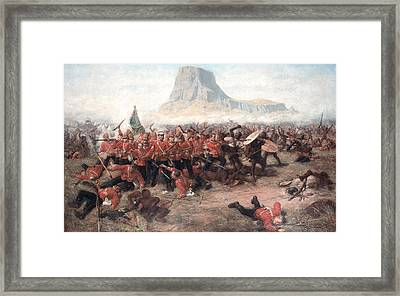 The Battle Of Isandlwana The Last Stand Framed Print by Charles Edwin Fripp