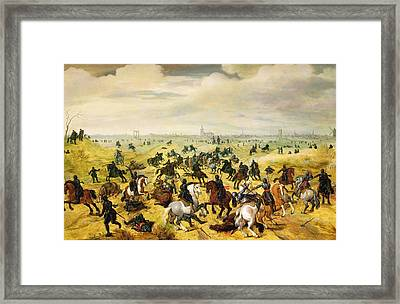 The Battle Of Leckerbeetje, 1600 Panel Pair Of 77047 Framed Print