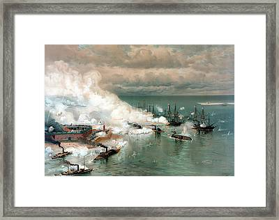 The Battle Of Mobile Bay Framed Print by War Is Hell Store