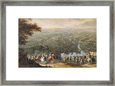 The Battle Of Poltava, Engraved By One Of The Nicolas Larmessin Family, 1709 Coloured Engraving Framed Print