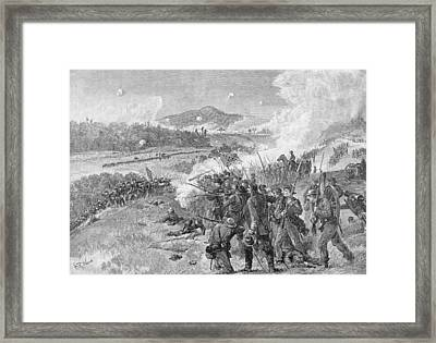 The Battle Of Resaca, Georgia, May 14th 1864, Illustration From Battles And Leaders Of The Civil Framed Print