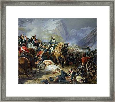 The Battle Of Rivoli, 1844 Oil On Canvas See Also 176686 Framed Print by Felix Philippoteaux