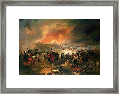 The Battle Of Smolensk, 17th August 1812, 1839 Oil On Canvas Framed Print by Jean Charles Langlois