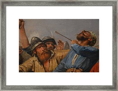 The Battle Of Stamford Bridge Framed Print by Peter Nicolai Arbo