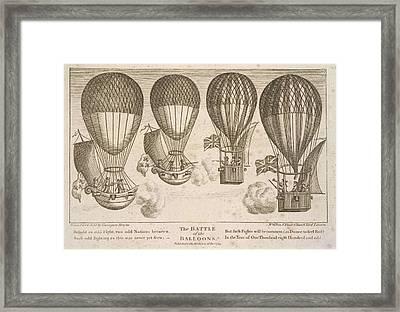 The Battle Of The Balloons Framed Print