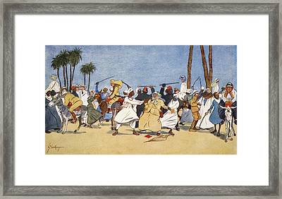 The Battle Of The Nile, From The Light Framed Print by Lance Thackeray