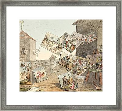 The Battle Of The Pictures Framed Print by William Hogarth