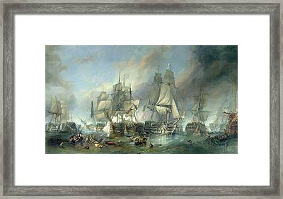 The Battle Of Trafalgar, 1805 Framed Print by Clarkson RA Stanfield