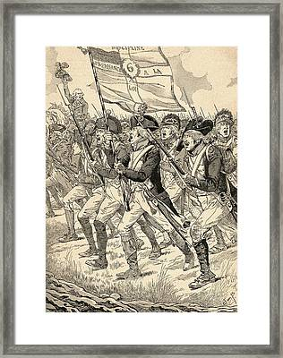 The Battle Of Valmy, 1792, During The French Revolutionary Wars.  From Agenda Buvard Du Bon Marche Framed Print by Bridgeman Images