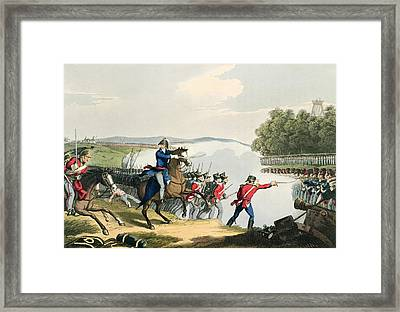 The Battle Of Waterloo Decided Framed Print by John Augustus Atkinson