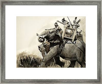 The Battle Of Zama In 202 Bc Framed Print by Angus McBride