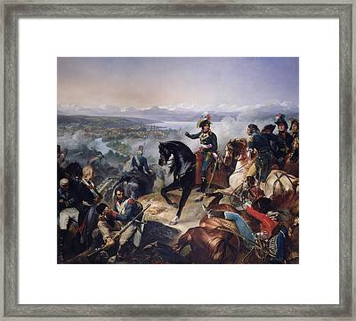 The Battle Of Zurich, 25th September 1799, 1837 Oil On Canvas Framed Print by Francois Bouchot