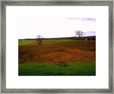 The Battlefield Of Gettysburg Framed Print