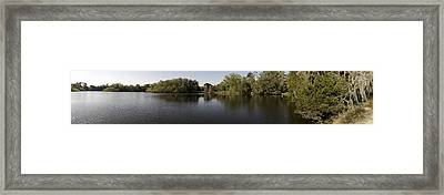 The Baughman Center At The University Of Florida Panoramic. Framed Print by William Ragan