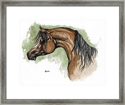 The Bay Arabian Horse 12 Framed Print by Angel  Tarantella