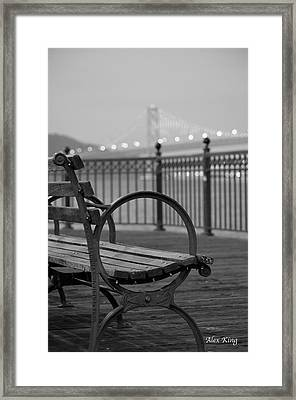 The Bay Bridge Framed Print by Alex King