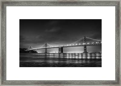 The Bay Bridge Monochrome Framed Print by Scott Norris