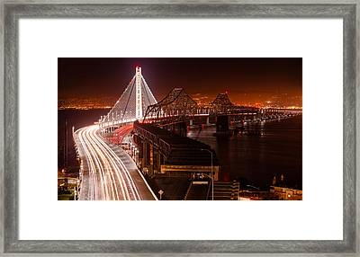 The Bay Bridges Framed Print by Alexis Birkill