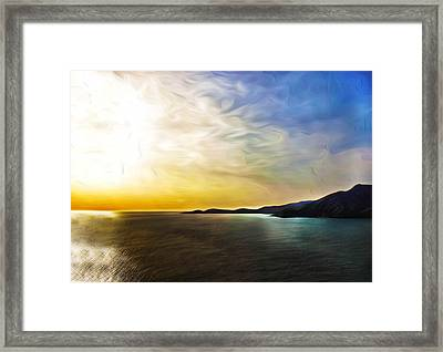 The Bay Framed Print by Camille Lopez