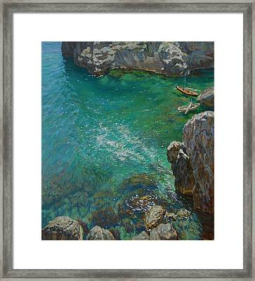 The Bay Framed Print by Korobkin Anatoly