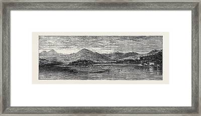 The Bay Of Finlarig Loch Tay Perthshire With The Mausoleum Framed Print by English School