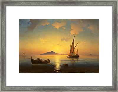 The Bay Of Naples Framed Print by Ivan Konstantinovich Aivazovsky
